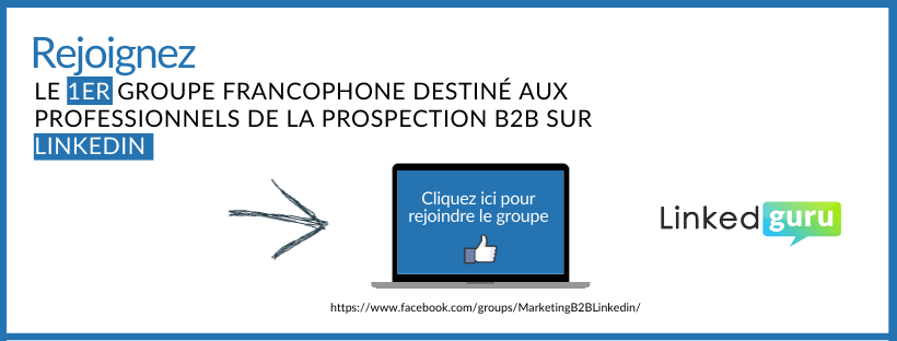 CTA groupe facebook prospection B2B