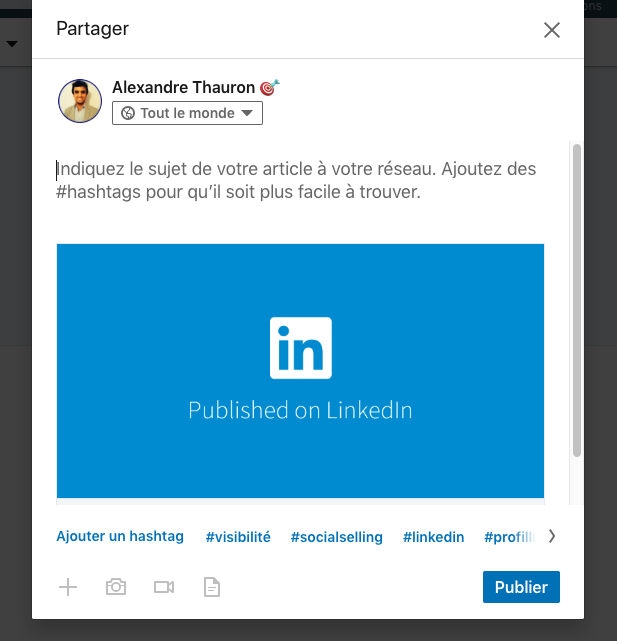 # hashtag linkedin pour article Pulse